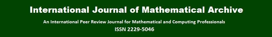 International Journal of Mathematical Arhive (IJMA)