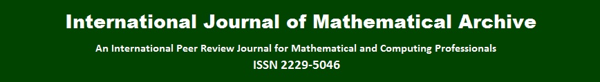 International Journal of Mathematical Archive (IJMA)